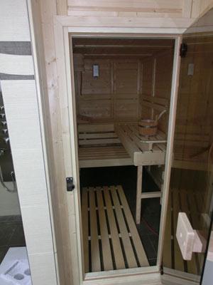 gefangene Sauna im Cerdo-Haus