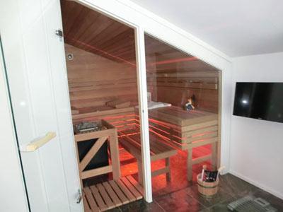 Sauna im Davinci-Fachwerkhaus