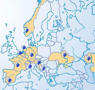 Finsterbusch-Sauna-Standorte in Europa