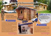 Naturstammhaus-Flyer