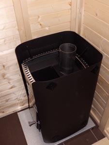 Holzofen f�r Sauna