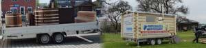 Mobile Blockhaus-Mietsauna