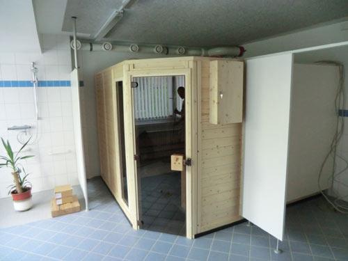 Sauna mit Kneipp-Anwendungen
