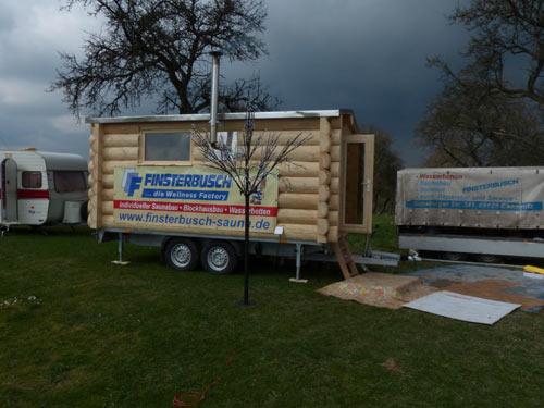 Mobile Blockhaus-Sauna