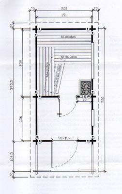 Grundriss Schäferwagen-Sauna
