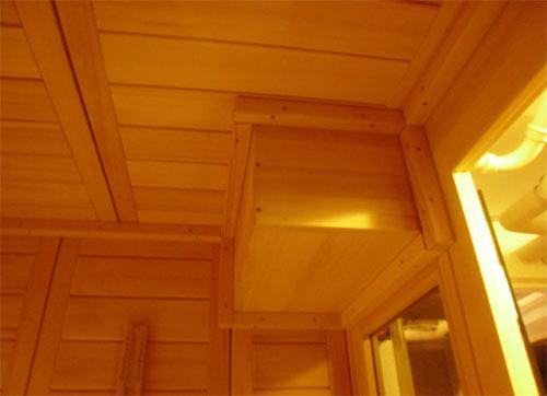 Sauna mit Dachaussparung