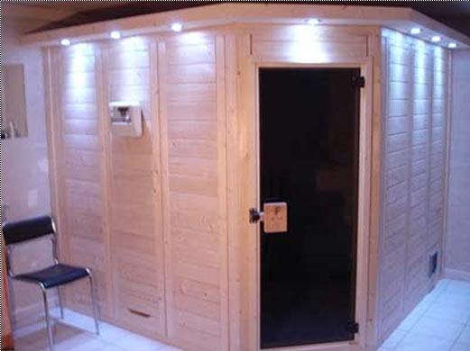 Sauna mit Eckeinstieg