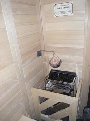 Sauna mit Multicup Salzverdampfer