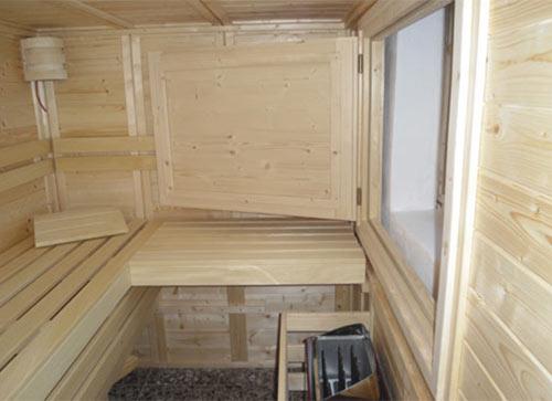 Sauna mit Revisionsklappe
