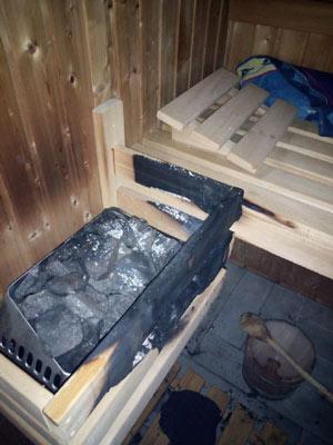 Brandschaden Ofenschutzgitter