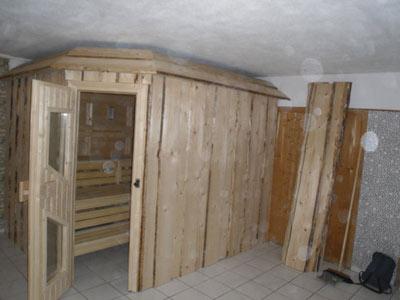 Sauna, aussen saniert