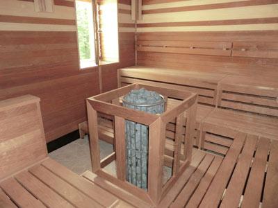 Sauna, innen saniert