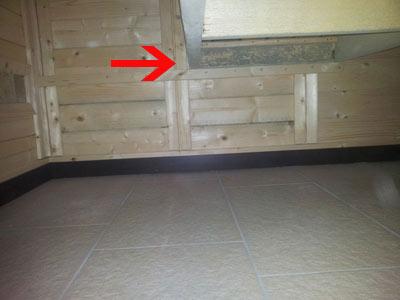 unsanierter Sauna-Schimmel