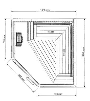Neu Exclusive Sauna - gebraucht - zu verkaufen - saunabauen.de LL53