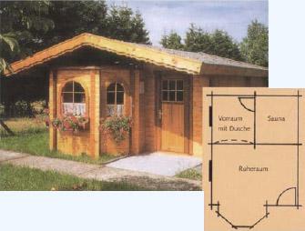 Variabler Grundriss Einer Gartensauna