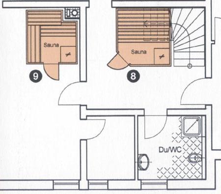 Sauna im Kellergewölbe