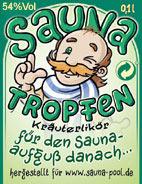 Etikett Saunatropfen