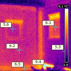 Thermografiegutachten an Au�enwand