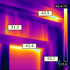 Einsatz der Wärmebildkamera