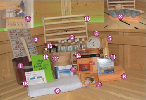 sauna zubeh r set bc19 kyushucon. Black Bedroom Furniture Sets. Home Design Ideas