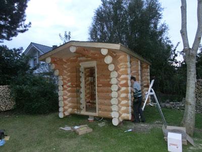 rundstamm sauna in mecklenburg vorpommern. Black Bedroom Furniture Sets. Home Design Ideas