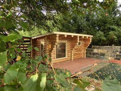naturstammhaus sachsen kundenbeispiel einer finsterbusch naturstamm sauna. Black Bedroom Furniture Sets. Home Design Ideas