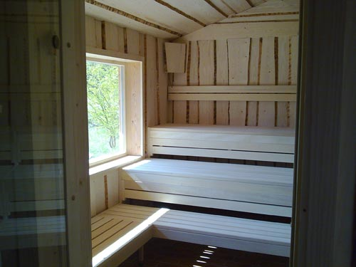 foto impressionen von massivholz saunen unserer kunden. Black Bedroom Furniture Sets. Home Design Ideas